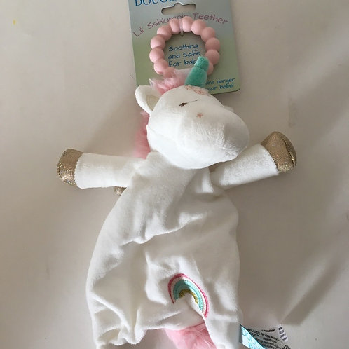 Douglas Lil' Sshlumpie Teether - Unicorn