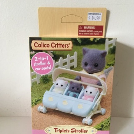 Calico Critters Triplets Stroller