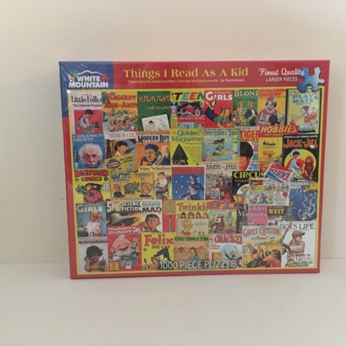 White Mountain Things I Read As A Kid Puzzle