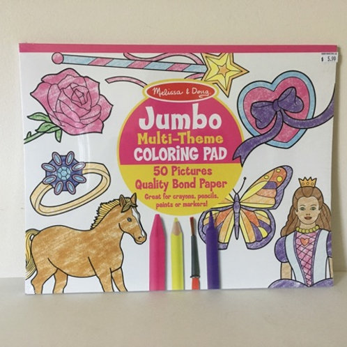 Melissa & Doug Jumbo Multi-Theme Coloring Pad
