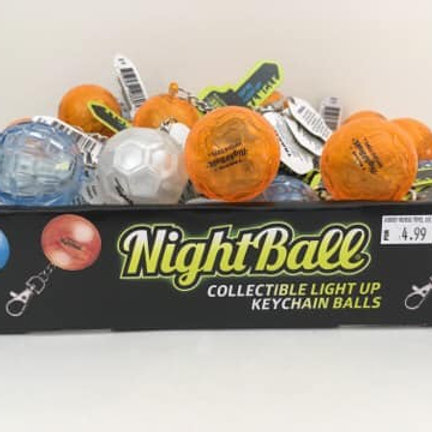 Night Ball, light up keychain ball (each sold seperately)