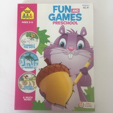 School Zone Fun & Games Pre School Book