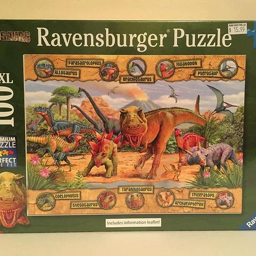 Ravensburger 100 XXL pc Puzzle Dinos with Dino Names