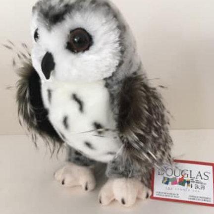 Douglas Owl Plush, grey and white