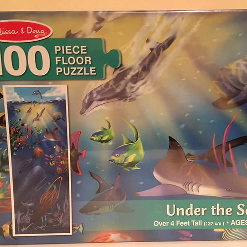 Melissa & Doug 100 pc Floor Puzzle, Under the sea