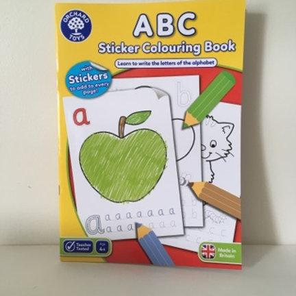 ABC Sticker Coloring Book