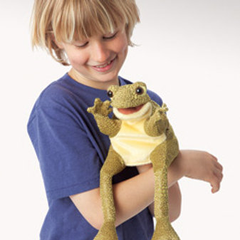 Folkmanis Funny Frog Puppet