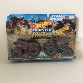 Hot Wheels Star Wars Monster Trucks - Darth Vader & ChewBacca