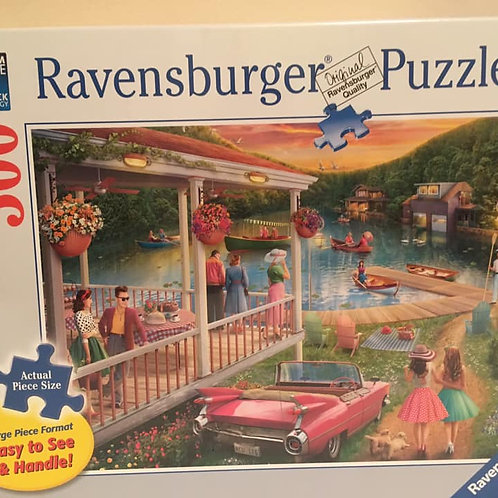 Ravensburger 300 pc Puzzle Outdoor Party by the water