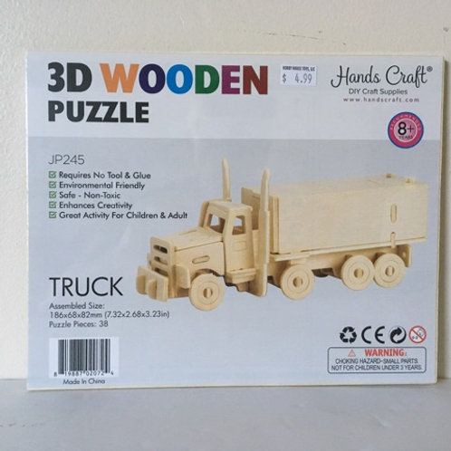 Hands Craft 3D Wooden Truck Puzzle