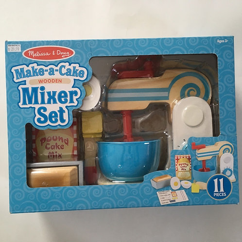Melissa & Doug Make a Cake Wooden Mixer Set