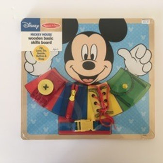 Melissa & Doug Mickey Mouse Wooden Skills Board
