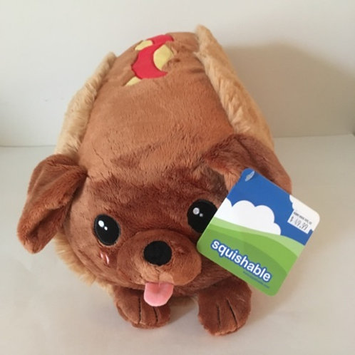 Large Squishable Dachshund Hot Dog