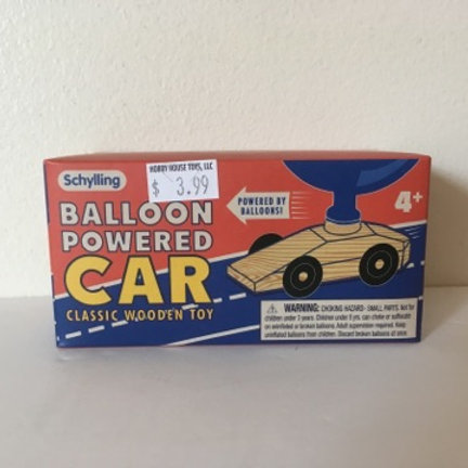 Balloon Powered Car Classic Wooden Toy
