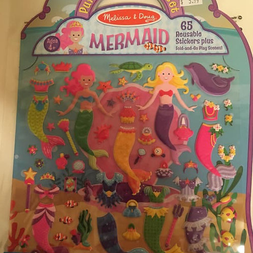 Melissa & Doug Puffy Sticker Play Set, MERMAID