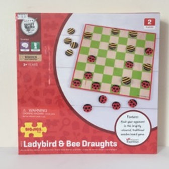 BigJigs Ladybird & Bee Draughts Checker Game