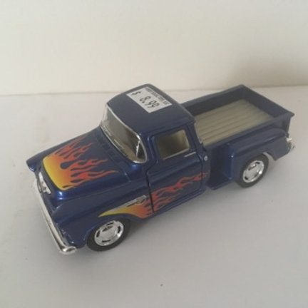 Die Cast Flame Hooded Pick Up Trucks