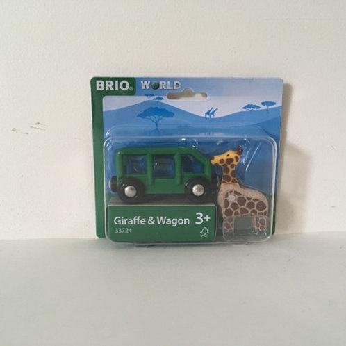 Brio Giraffe & Wagon #33724