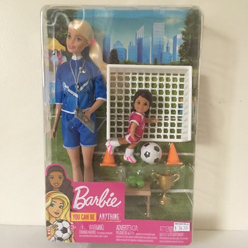 Barbie You Can Be Anything Doll - Soccer Coach #GLM47