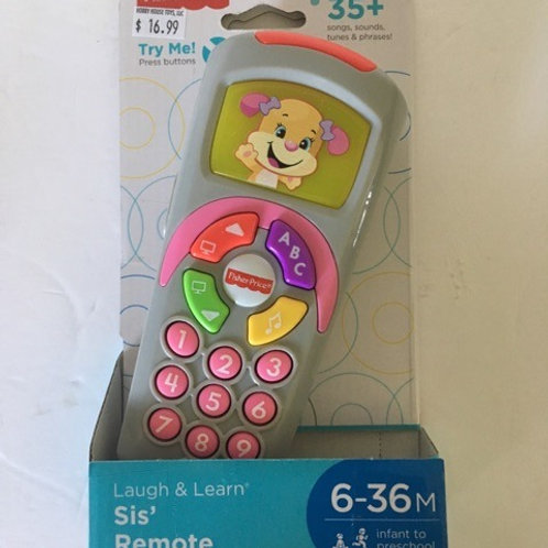 Fisher Price Laugh & Remote Sis Remote