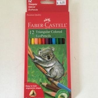 Faber Castell Triangular Colored EcoPencils