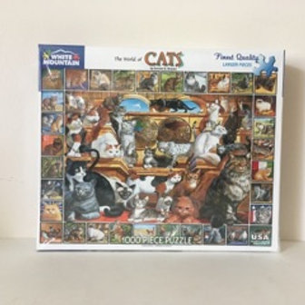 White Mountain The World of Cats Puzzle