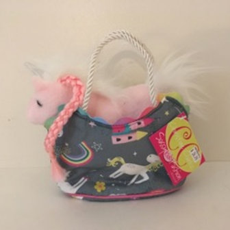 Douglas Sassy Fashion Pet Sak - Grey Unicorn