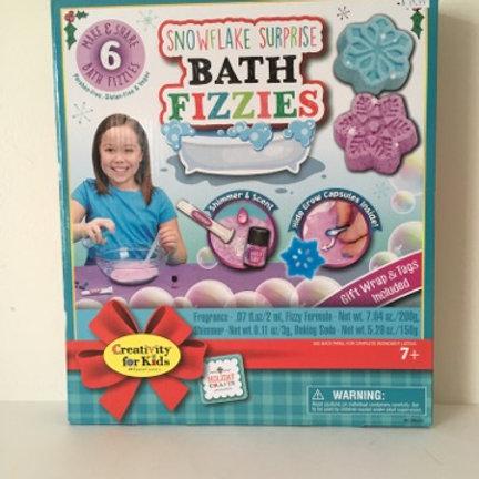 SnowFlake Surprise Bath Fizzies