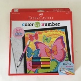 Creatvity for Kids Color by Number Bloomin Butterflies