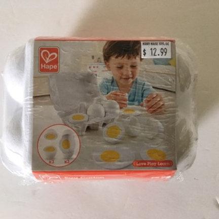 Hape Egg Carton with Eggs
