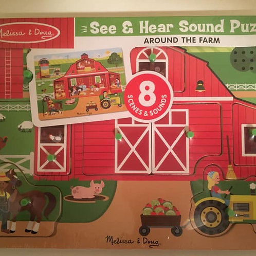 Melissa & Doug See & Hear Sound Puzzle - Around the Farm