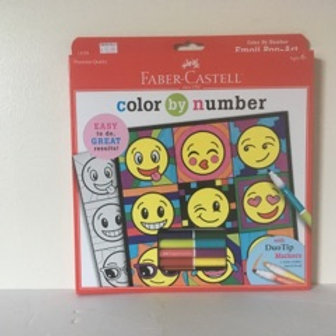 Faber Castle Color by Number -  Emoji Pop Art