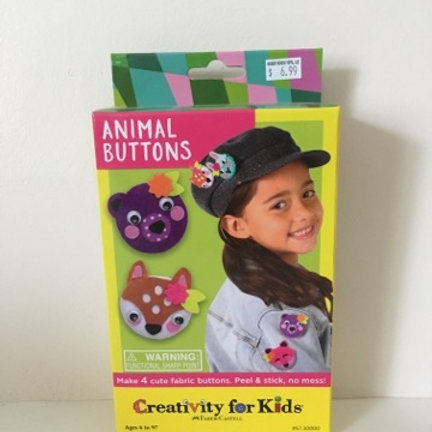 Creativity For Kids - Animal Buttons
