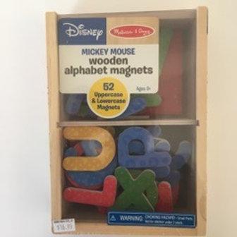 Melissa & Doug Wooden Alphabet Magnets - Mickey Mouse
