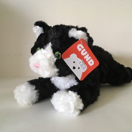 Gund Plush Cat Black and White