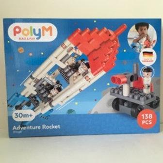 Poly M Adventure Rocket Play Set