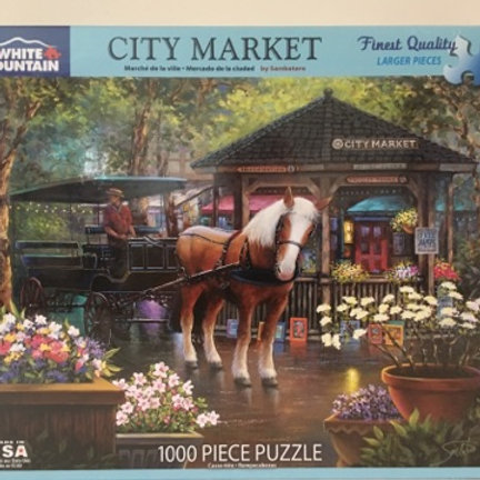 White Mountain 1000 pc Puzzle, City Market