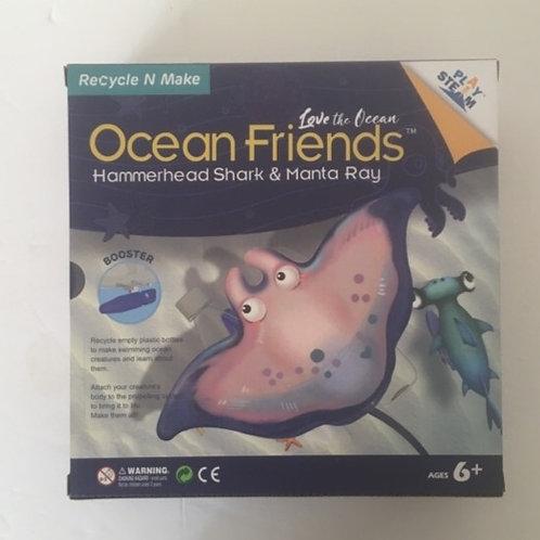 Ocean Friends Recycle n Make Set - Hammerhead Shark & Manta Ray