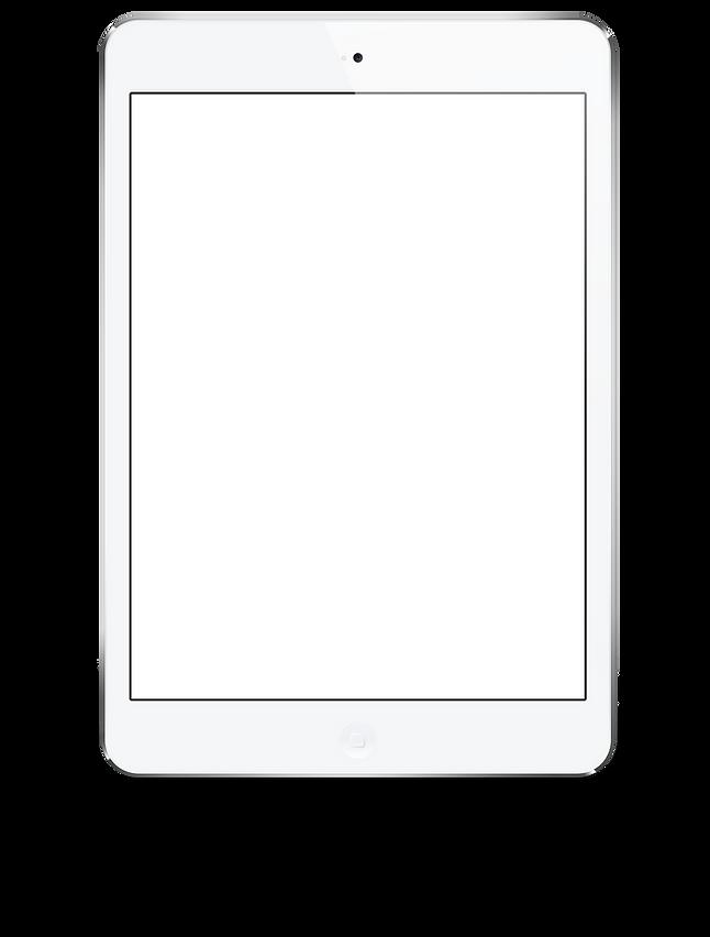 Tablet mostrando en pantalla los servicios Xquadrone