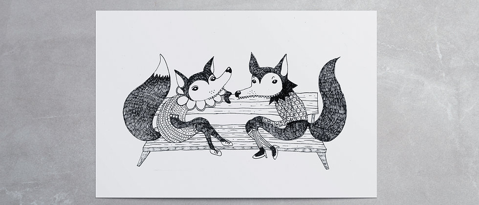 LADY FOX GREETING CARD