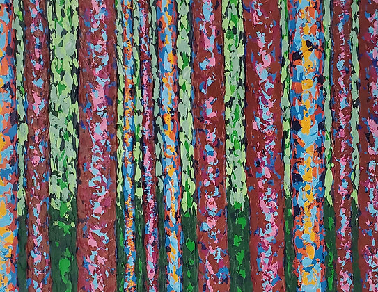 Abstract Forest by Lisa Wolfin
