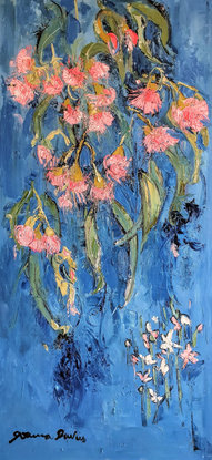 Flowering Gum and wax flowers inspired by Monet