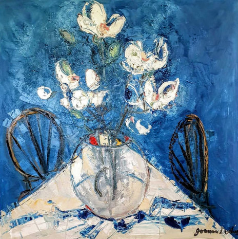Magnolias and Two Chairs