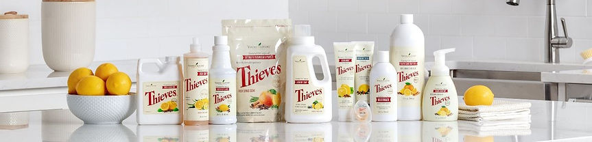 Young Living Thieves Products Cleaner - Fruit Vegetable Wash -  Soap - Toothpaste - Cough Drops