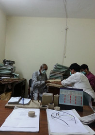 BOR clerical staff and an RA at work to help trace the tax files