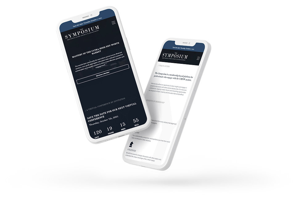 The Symposium Website Preview on iPhone
