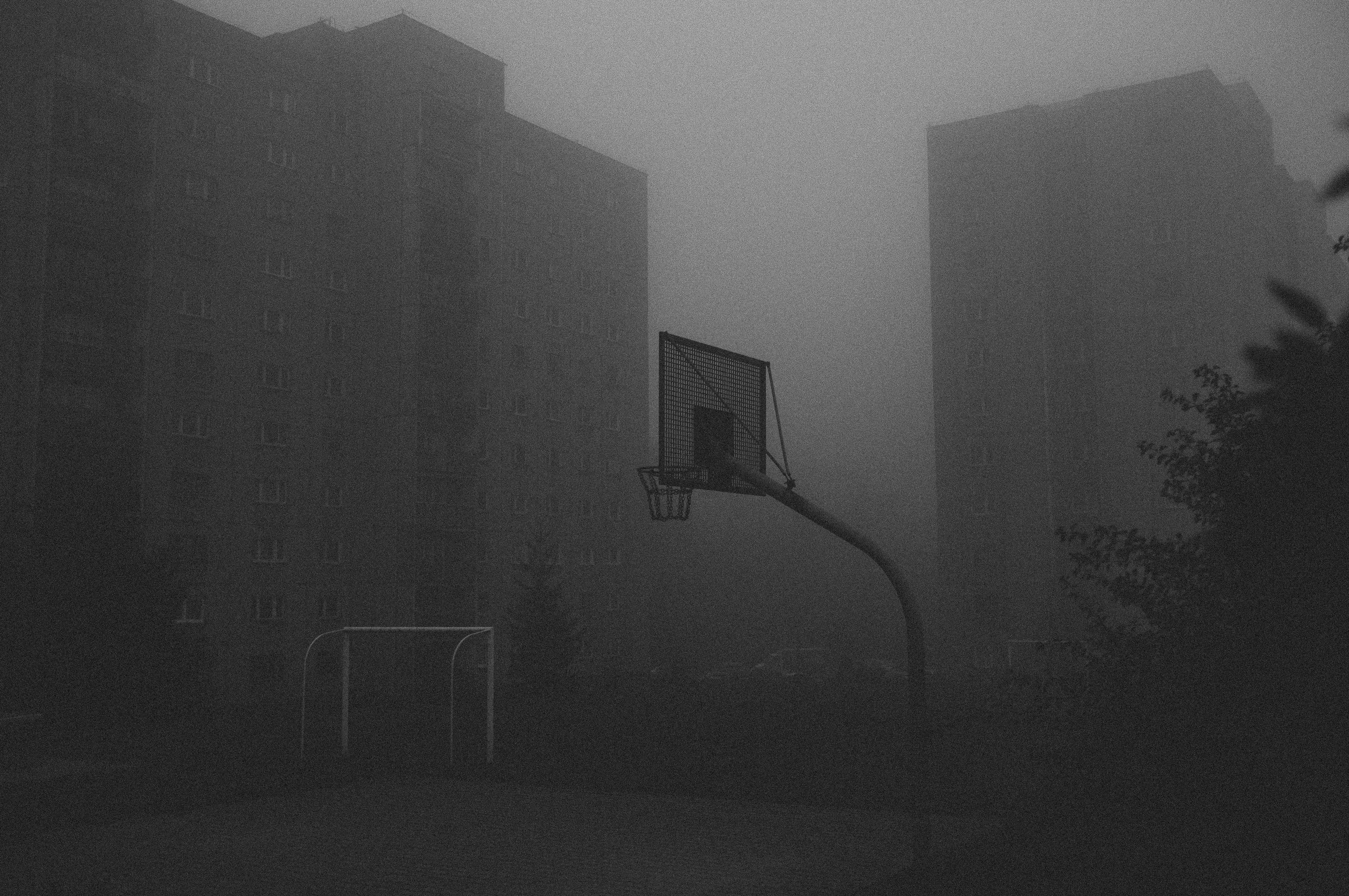 Smoky Basketball Court
