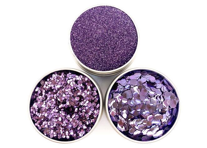 Single colour glitter lilac