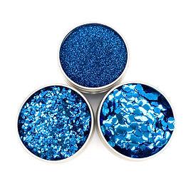 Blue Bioglitter fine and chunky glitter
