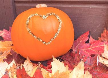 Eco glitter pumpkin for halloween